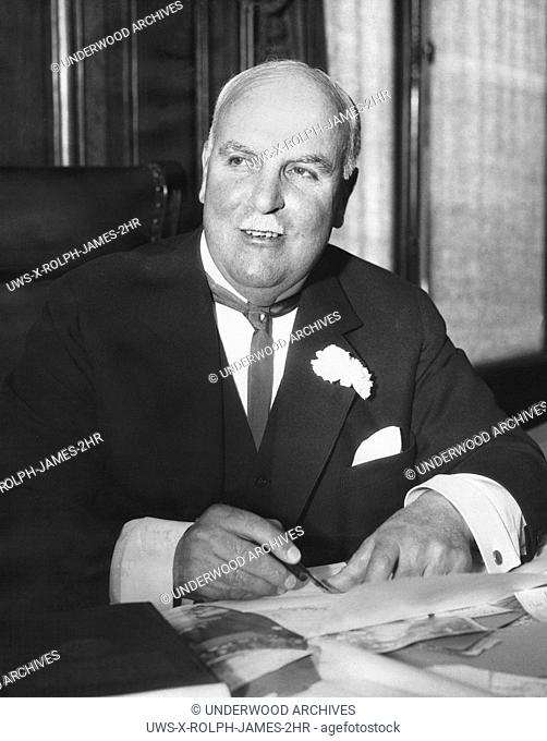 San Francisco, California: April 9, 1930.Mayor James Sunny Jim Rolph who announced today that he will run for governor of California on the Republican ticket