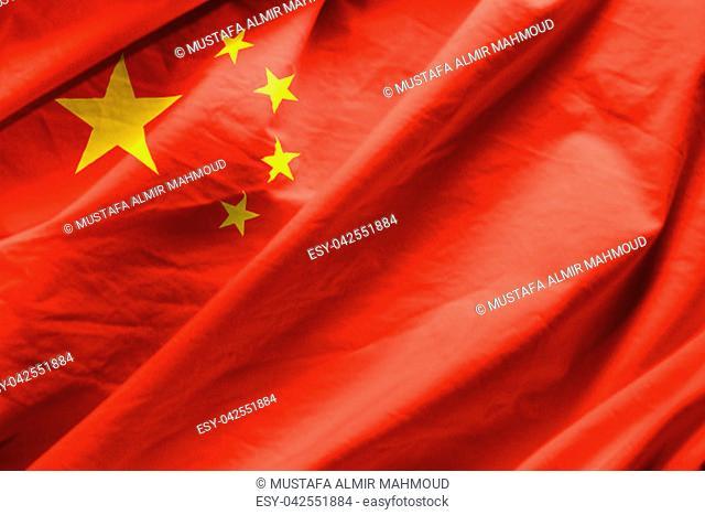 Closeup of Flag of china