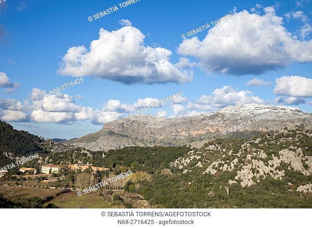 General view of Lluc and Puig Roig, Escorca, Majorca