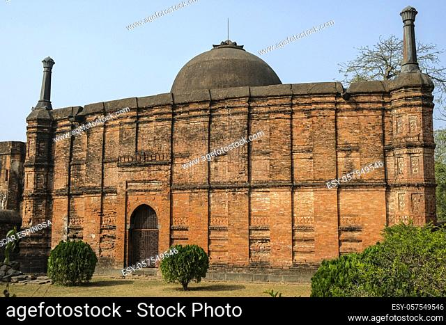 Kadam Rasul Masjid are the ruins of a small mosque that was the capital of the Muslim Nawabs of Bengal in the 13th to 16th centuries in Gaur, West Bengal, India