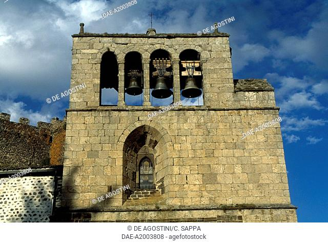 Bell tower of the church of Saint-Pierre, Arlempdes, Auvergne. France, 11th-16th century