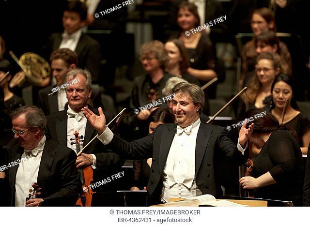 Daniel Raiskin, principal conductor of the State Orchestra Rheinische Philharmonie, Koblenz, Rhineland-Palatinate, Germany