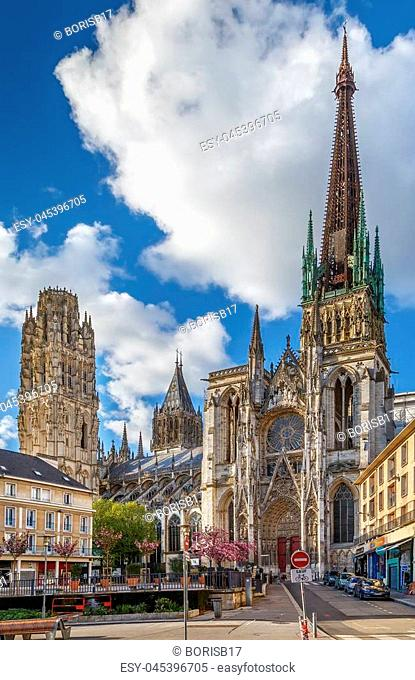 Rouen Cathedral is a Roman Catholic Gothic cathedral in Rouen, Normandy, France