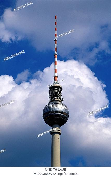 Germany, the Mitte district of Berlin, television tower, restaurant