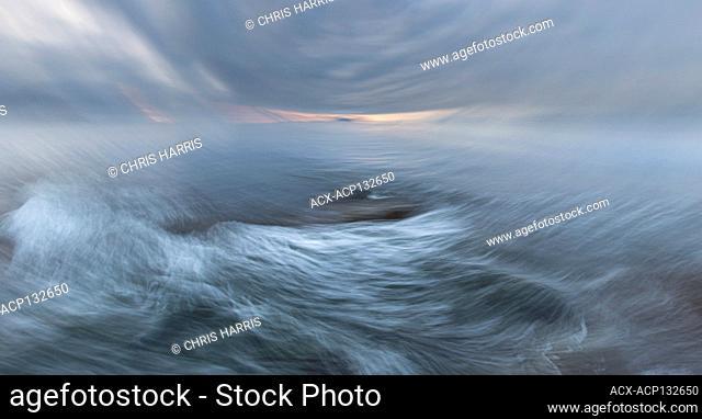 abstract, expressionist, ocean, ocean storm, Pacific Ocean