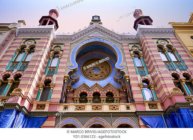 Prague Czech Republic. Jerusalem Synagogue