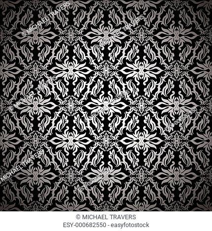 retro silk black