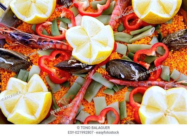 Mediterranean delicious paella seafood