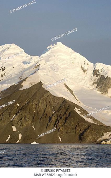 Antarctica, South Shetlands Islands, Livingston Island, False Bay, Charity Glacier