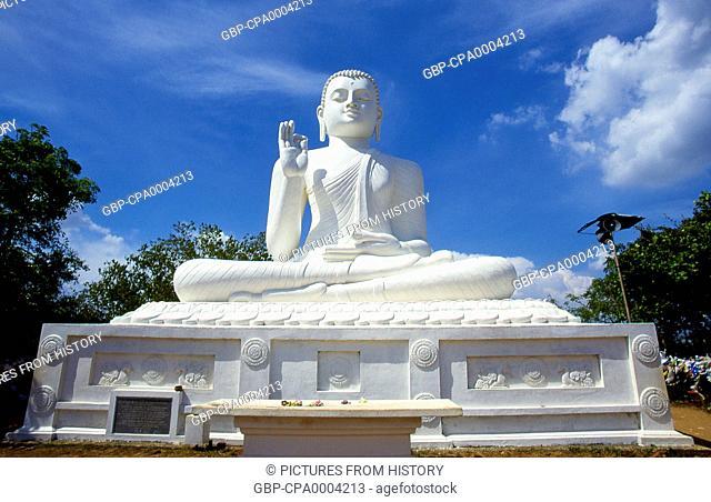Sri Lanka: Giant seated Buddha at Ambasthala Dagoba, Mihintale