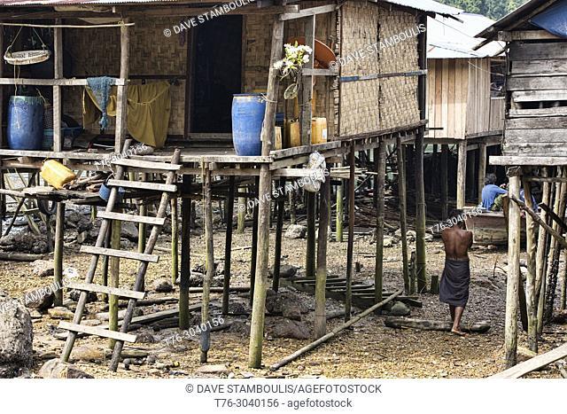 Life in a Moken sea gypsy village, Jalan Island, Mergui Archipelago, Myanmar