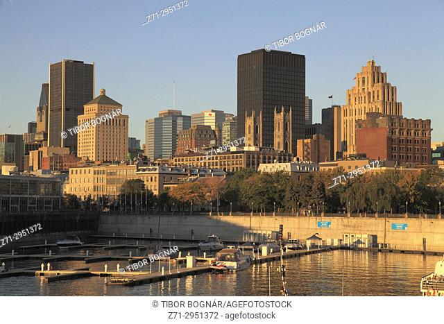 Canada, Quebec, Montreal, skyline, downtown, Old Port,
