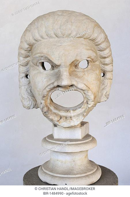 Ancient mask in the Terme Museum, National Museum of Rome, Lazio, Italy, Europe
