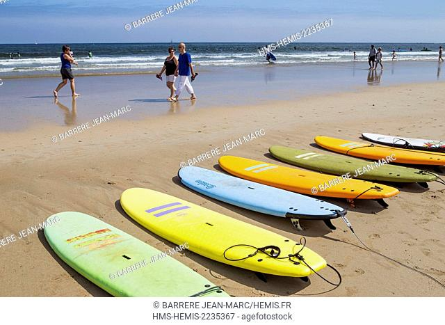 France, Pyrenees Atlantiques, Basque Country, Hendaye, the beach