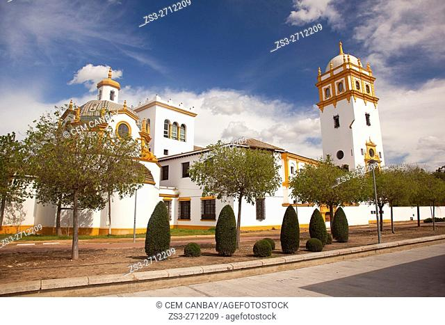 Neo-baroque Galleon church at Pabellón De Argentina-Pavilion Of Argentina by the Guadlaquivir river, Seville, Andalusia, Spain, Europe