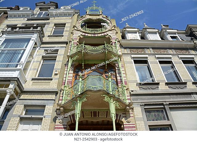 Gustave Strauven's Art Nouveu style Maison Saint-Cyr. Brussels, Belgium, Europe