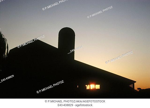 Barn with silo, USA