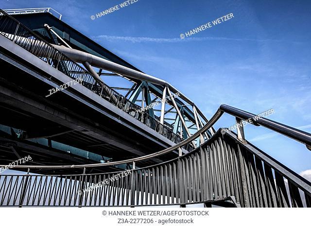 The Waalbrug is an arch bridge over the Waal River in Nijmegen, Gelderland, the Netherlands
