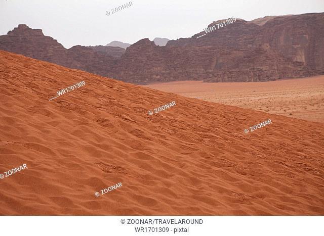 Sand Dune in Wadi Rum, Jordan