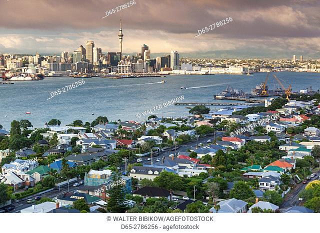 New Zealand, North Island, Auckland, skyline view from Devonport