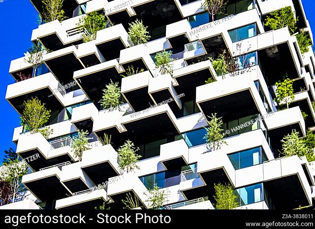 Brand new vertical forest at Strijp-S in Eindhoven, The Netherlands, Europe