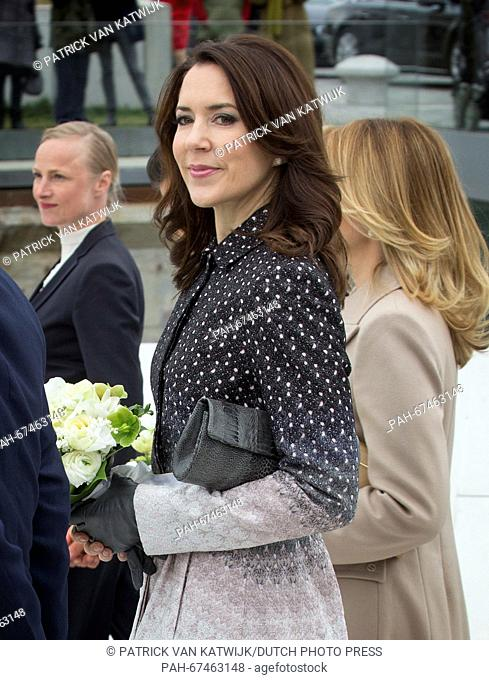Crown Prince Frederik and Crown Princess Mary and President Enrique Pena Nieto and his wife Angelica Rivera of Mexico visit the Maritime Museum in Helsingor
