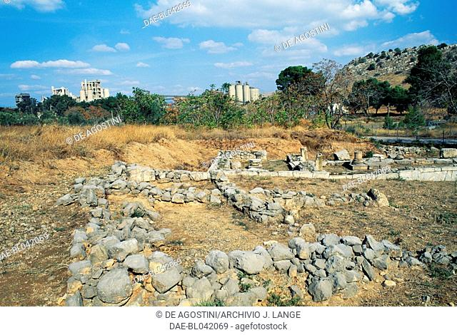 Ruins of the Temple of Artemis in Aulis, Boeotia, Greece. Greek civilisation, 5th-4th century BC