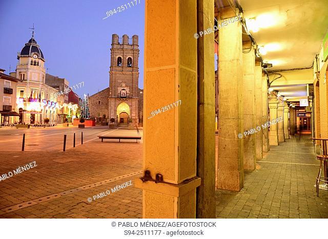Main square of La Bañeza in Leon province, Spain