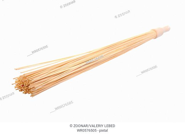 broom for a massage in the sauna