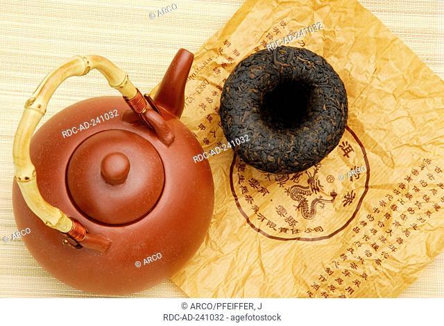 Teapot and pressed black tea China