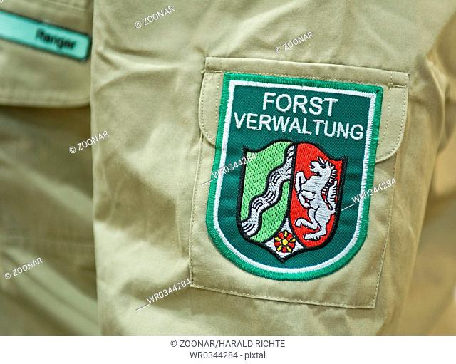 Service insignia on the shirt sleeve of a rangers
