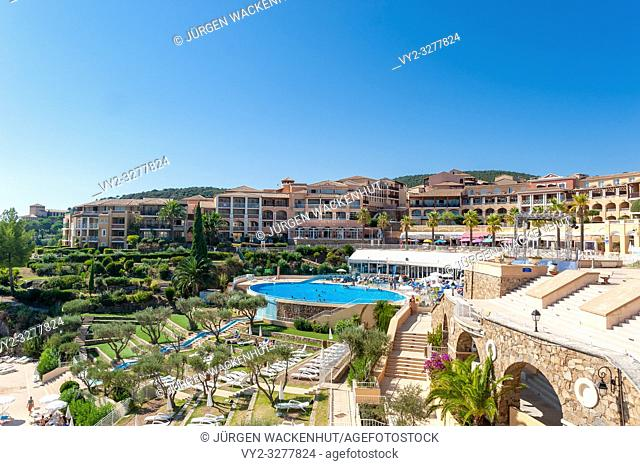 Holiday village Pierre et Vacances at the Cap Esterel, Saint-Raphael, Var, Provence-Alpes-Cote d`Azur, France, Europe