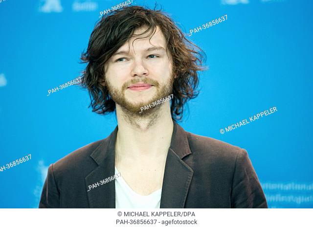 Actor Mateusz Kosciukiewicz poses at a photocall for «In the name of» (W imie) during the 63rd annual Berlin International Film Festival, in Berlin, Germany