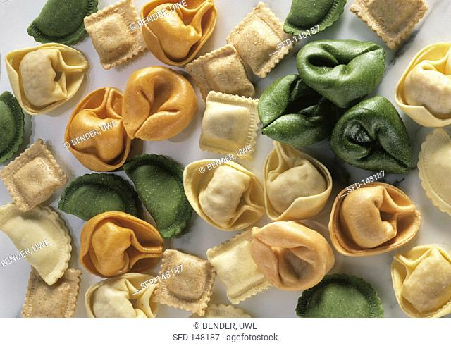 Mixed ravioli and tortellini