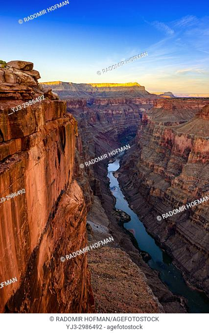 Toroweap Overlook, Grand Canyon National Park Arizona, USA. It's 3000 feet above the Colorado River, straight drop down from the top