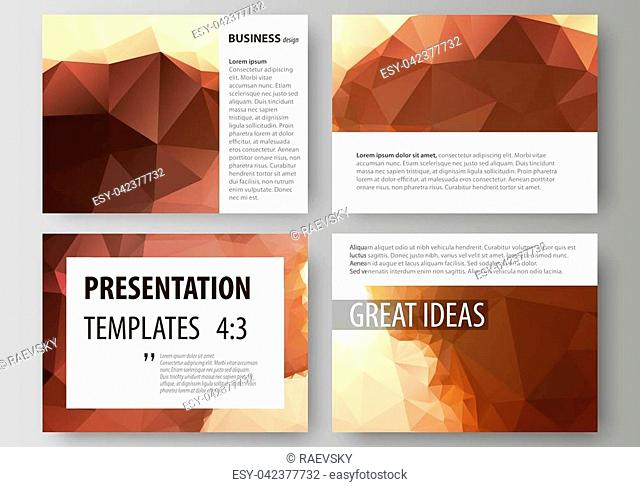 Set of business templates for presentation slides. Easy editable abstract vector layouts in flat design. Romantic couple kissing. Beautiful background