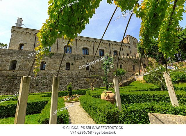 Italy, Tuscany, the village of Montepulciano on the hills tuscany, provence of Siena