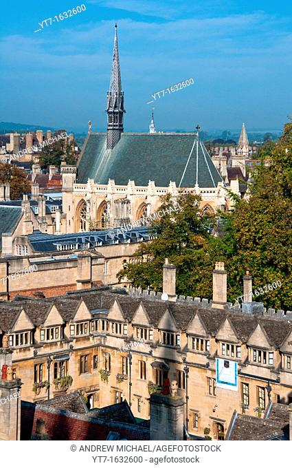 Exeter College and Chapel at Oxford, England