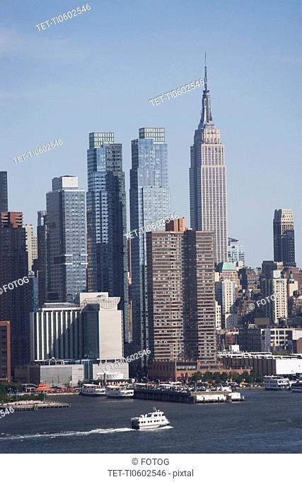 USA, New York State, New York City, Manhattan, Skyscrapers of Manhattan