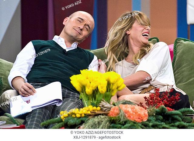 Alessia Marcuzzi and Alfonso Signorini, Telecast 'Kalispera', Canale 5, Milan, Italy, 2010