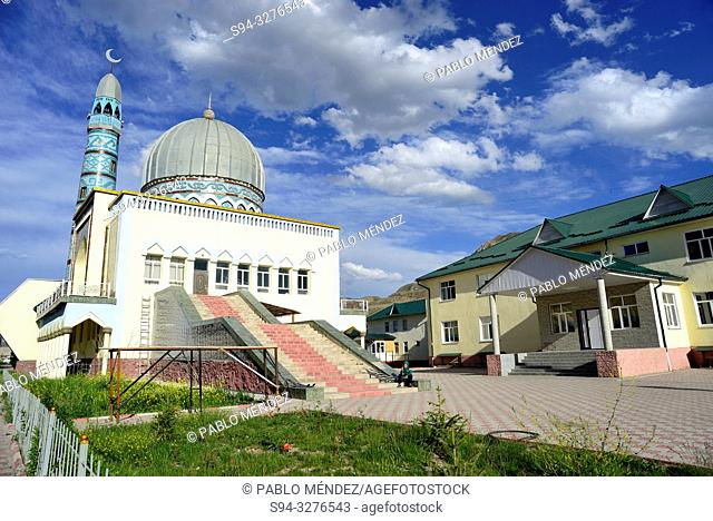 New Mosque and school of Naryn, Kyrgyzstan