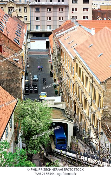 Zagreb city with funicular