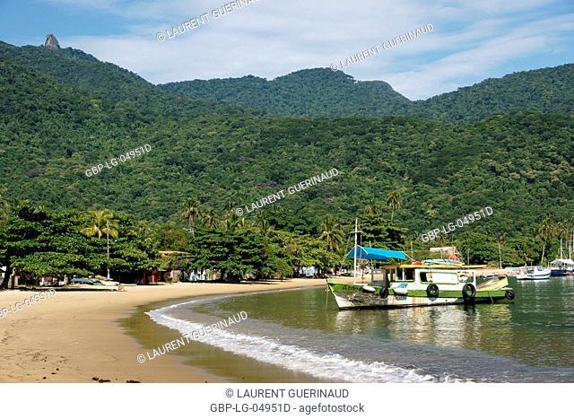 Beach, Boat, Ilha Grande, Rio de Janeiro, Brazil