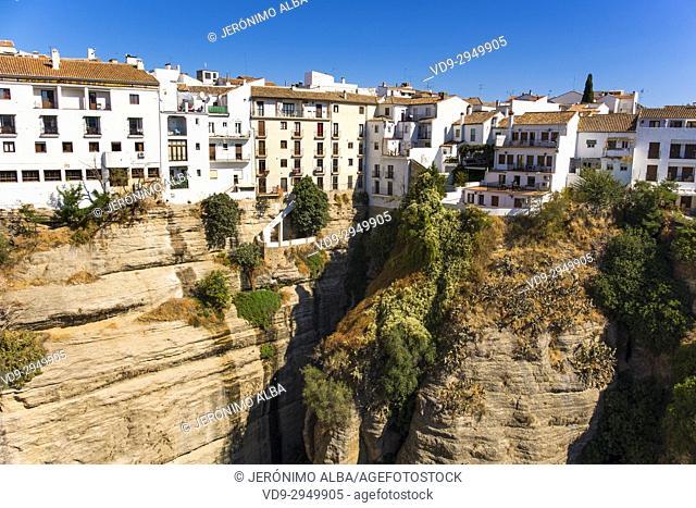 El Tajo canyon or gorge, Ronda. Málaga province Costa del Sol, Andalusia. Southern Spain Europe