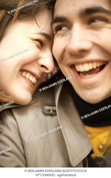 couple laughing about joke