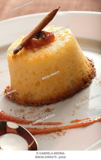 Close up of dessert cake
