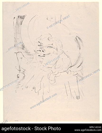 Coquelin Aîné. Series/Portfolio: PORTRAITS OF ACTORS AND ACTRESSES; Artist: Henri de Toulouse-Lautrec (French, Albi 1864-1901 Saint-André-du-Bois); Date: 1898;...