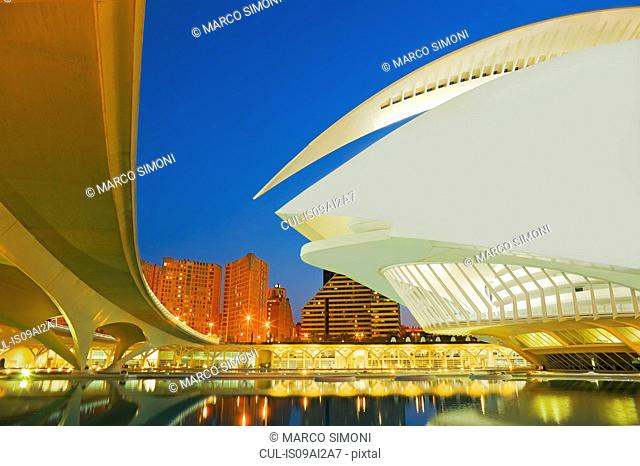 City of Arts and Sciences at night, Valencia, Spain