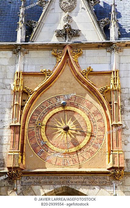 Tour de L'Horloge, Auxerre, Yonne, Burgundy, Bourgogne, France, Europe
