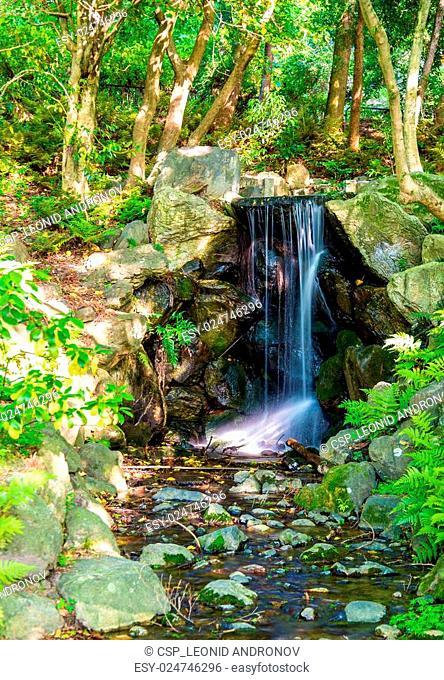 Waterfall in Maruyama Park - Kyoto